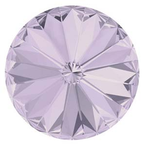 14 mm Swarovski Rivoli Smokey Mauve Foiled
